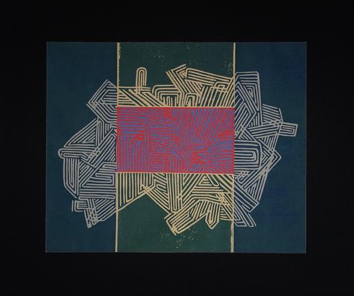 'Labyrinth', Linoldruck, ca. 40x30cm, 12/2017