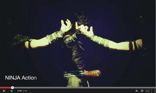 プロジェクションマッピングを使った忍者パフォーマンス動画