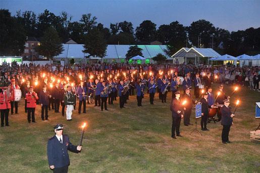 Großer Zapfenstreich beim Kreisheimatschützenfest 2018 in Hörstel