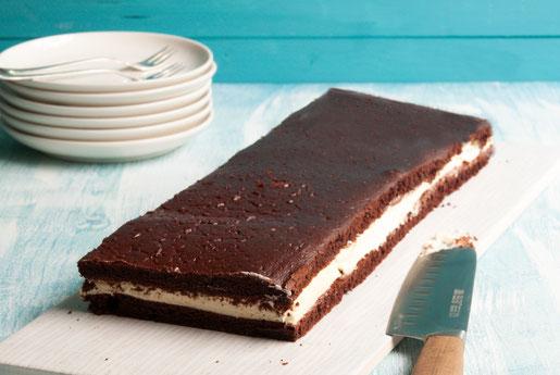 XXL Milchschnitte als Kuchen selbst gemacht zum Kindergeburtstag Kinderfest Sommerfest etc, vegan möglich