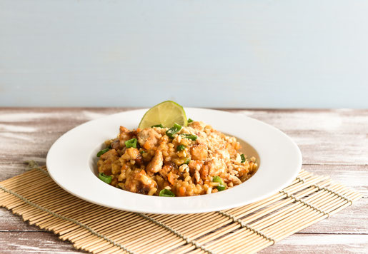 Pad Thai Risotto, vegan, vegetarisch, Thermomix