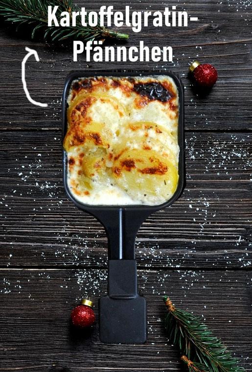 Kartoffelgratin Pfännchen Raclette, Klassiker, vegetarisch