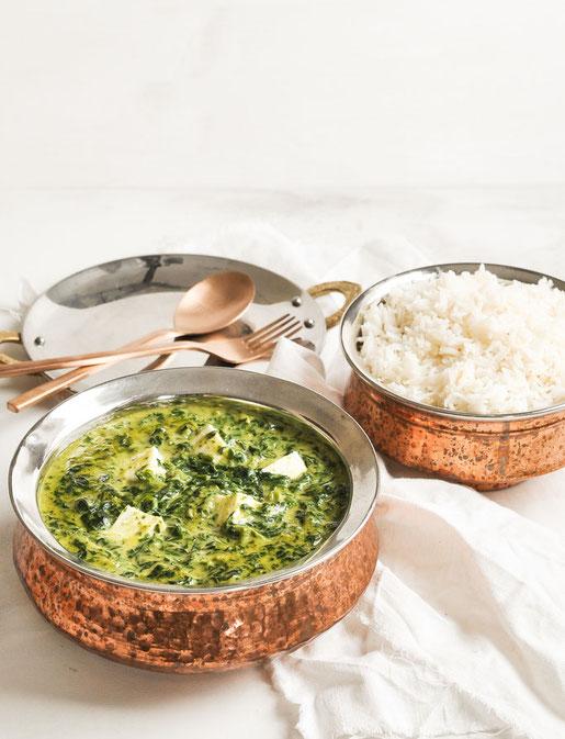 Palak Paneer mit Tofu vegan aus dem Thermomix Das Rezept für dieses indische Spinatcurry ist schnell und einfach