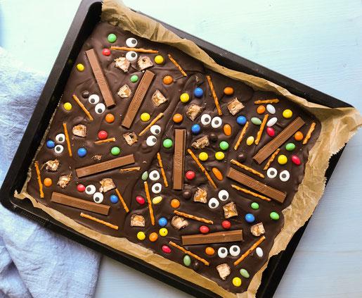 Bruchschokolade mit Süßigkeiten selbst gemacht