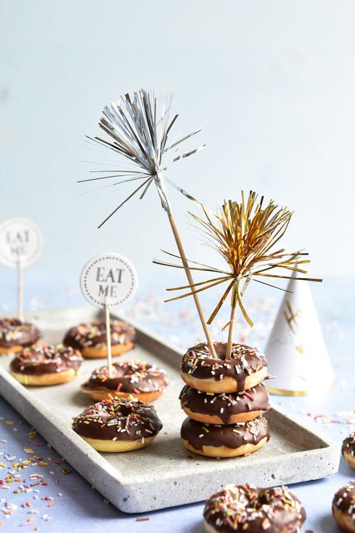 Mini Donuts glutenfrei möglich, mit Quark, z.B. aus dem Donutmaker