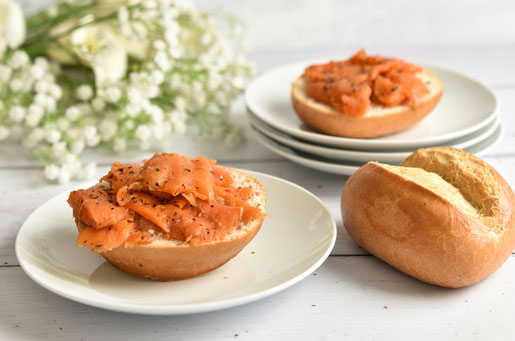 Karottenlachs aus dem Thermomix Lachs vegan aus Karotten mit Algenpulver