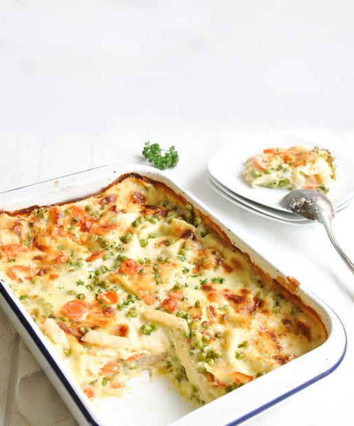 Lasagne Leipziger Allerlei ist ein fantastisches Kinderessen, um den Kindern Gemüse schmackhaft zu machen und es schmeckt auch Ehemännern!