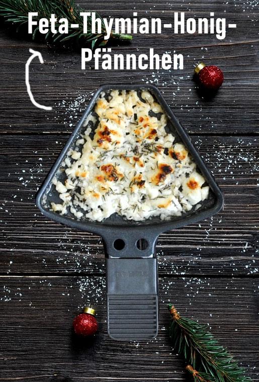 Gebackener Feta mit Thymianhonig aus dem Raclette Pfännchen, einfach und schnell
