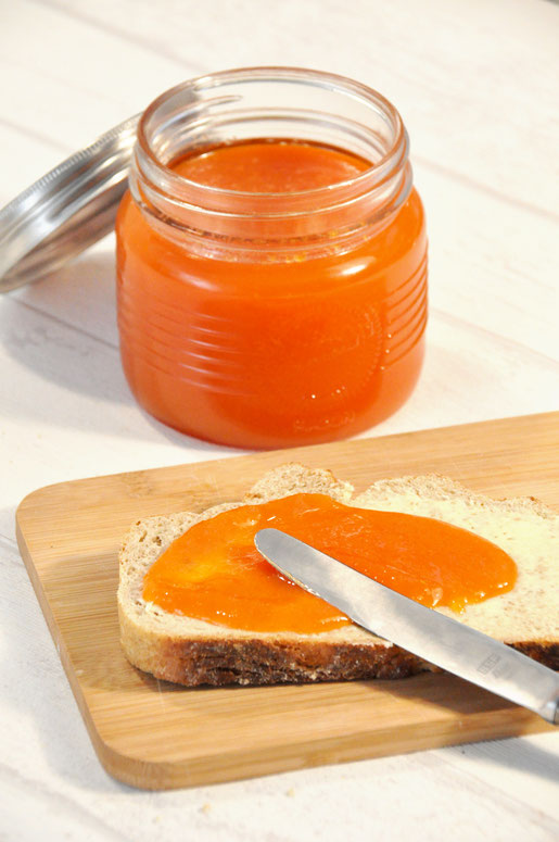 Karotten Marmelade süß, zum Frühstück, lecker, Thermomix