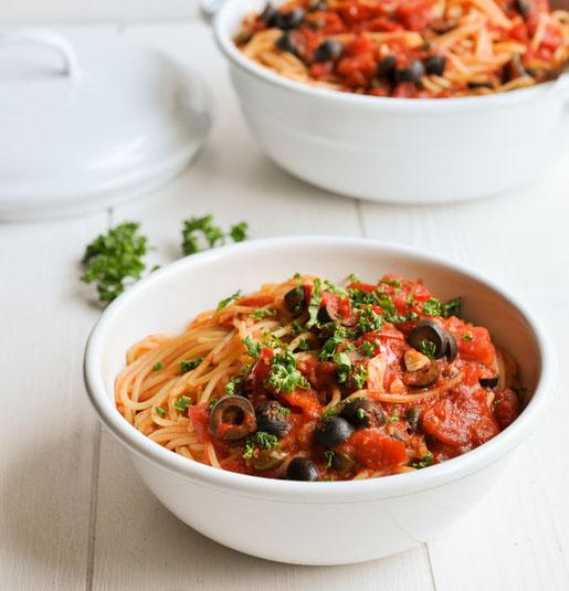 Rigatoni al forno, super vorzubereiten, vegetarisch oder vegan machbar