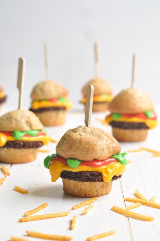 Süße Burger Muffins, Knaller auf dem Kuchenbuffet, vegan möglich, Thermomix