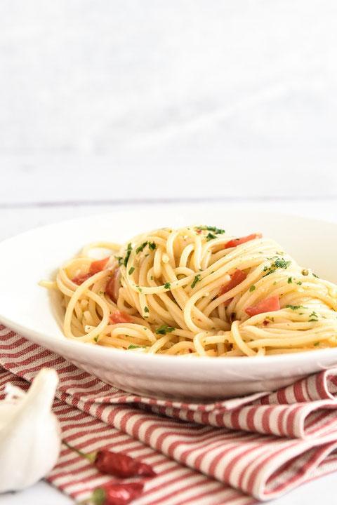 Spaghetti aglio e olio Thermomix