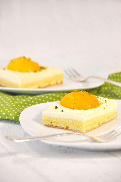 Spiegelei Kuchen mit Vanillecreme, vegan möglich, aus dem Thermomix