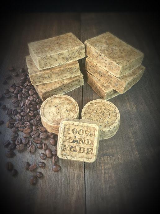 Kaffee Seife aus dem Thermomix mit Peelingeffekt