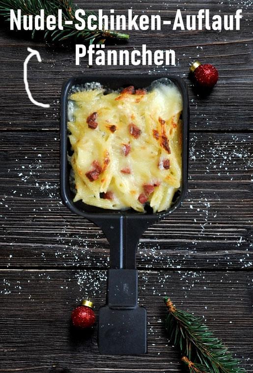 Nudelauflauf Pfännchen Raclette, Klassiker, vegetarisch möglich