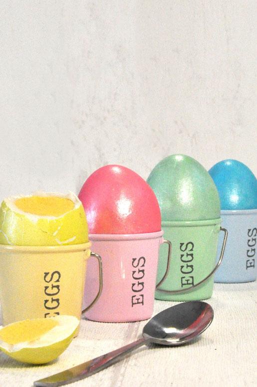 Eier färben im Thermomix im Metallic Look