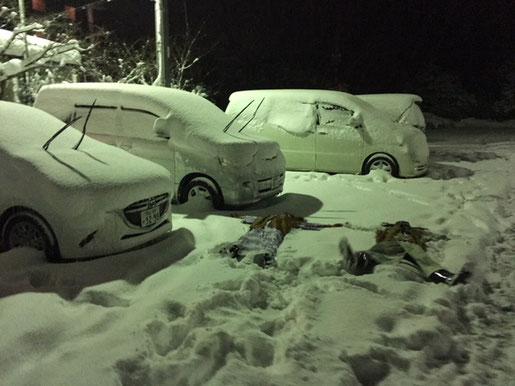 1月。大寒波の中行った島根か鳥取かそのあたりw当たり前ですが浴衣びしょ濡れになったw