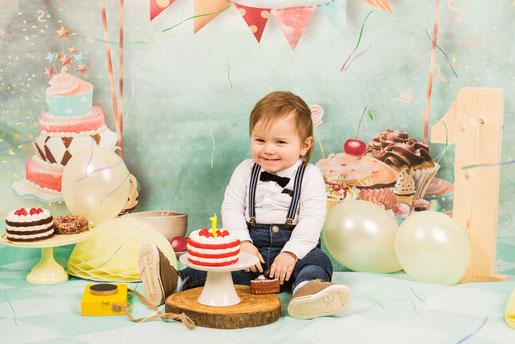 cake smash van een jongen