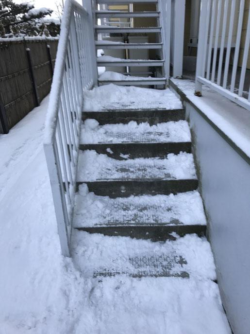 アパートマンションの階段滑り止め