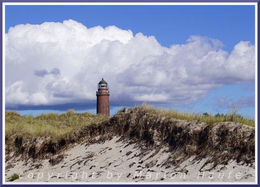 Weststrand zwischen Kernzone und Leuchtturm am Darßer Ort im Winter.