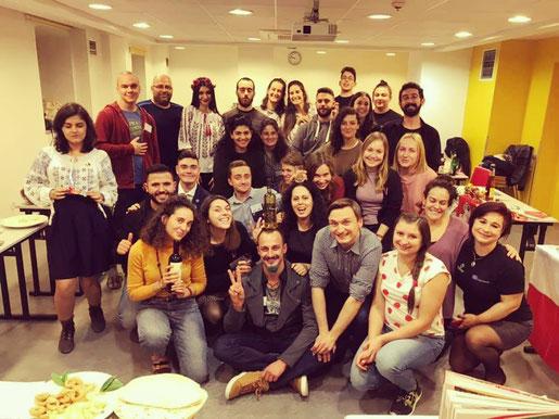 All participants at the intercultural evening