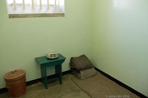 Nelson Mandelas Zelle auf Robben Island