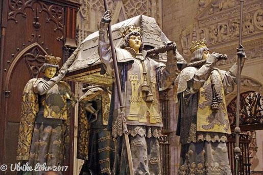 Kathedrale von Sevilla - Grabmal für Christoph Kolumbus