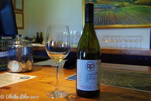 Weinprobe auf Villa Maria Estate - Flasche Nummer 1087
