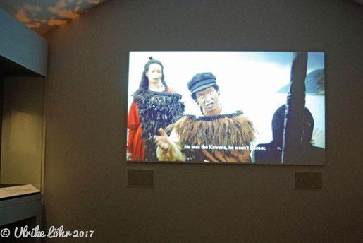 im Museum werden interessante Kurzfilme zur Geschichte des Vertrags von Waitangi gezeigt