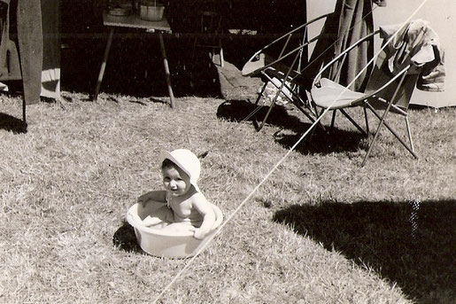 Camping im Sülztal bei Kürten 1959