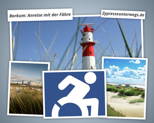 Borkum: Anreise mit der Fähre (erstellt unter Verwendung von Fotos mit dem (C) Nordseeheilbad Borkum GmbH)
