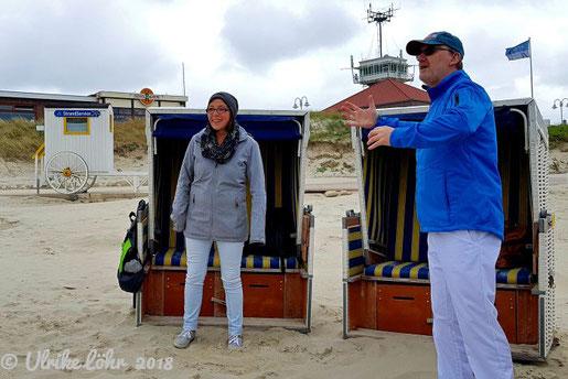 Atemübungen am Strand