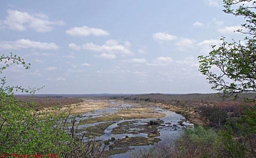 Blick vom N'wamanzi Lookout auf den Olifants River