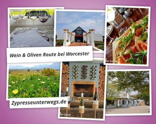Wein & Oliven Route bei Worcester