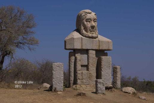 die Statue von Paul Kruger am Kruger Gate in den gleichnamigen NP