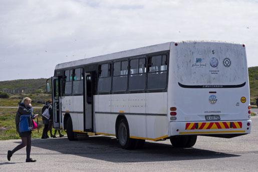 Bus für die Rundfahrt über Robben Island