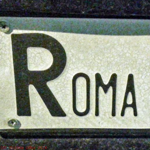 Autokennzeichen eines erömischen Autos