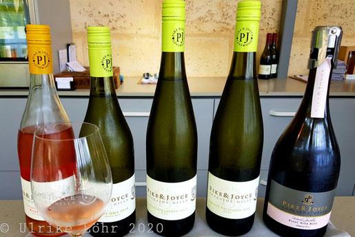 Weinprobe bei Pike & Joyce