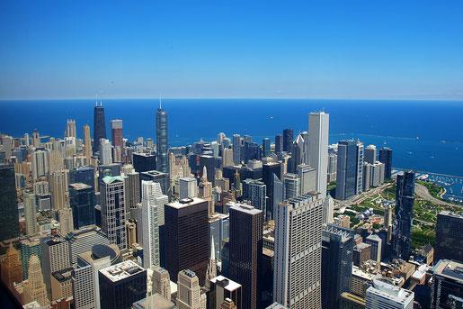 Blick vom Willis Tower auf Chicago (Foto NP)