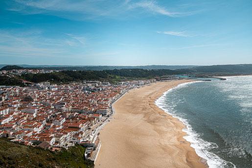 Portugals Atlantikküste bei Nazaré (C) Snoopsmaus