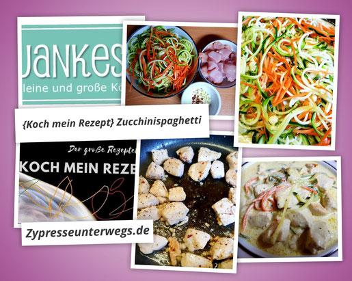 {Koch mein Rezept} Zucchini-Spaghetti mit Hähnchenbrust