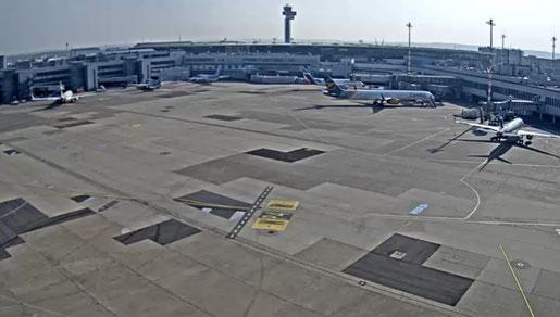 Screenshot Webcam Flughafen Düsseldorf