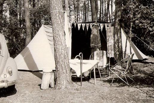 Camping am Neuenburger See (Schweiz) ab 1965