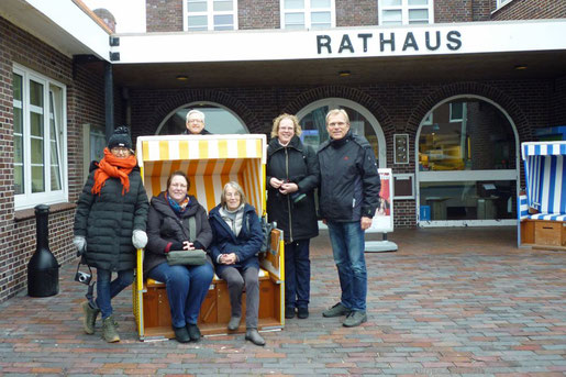 Die Blogger mit Hinrik Dollmann, Tourismusmanager der Insel Langeoog