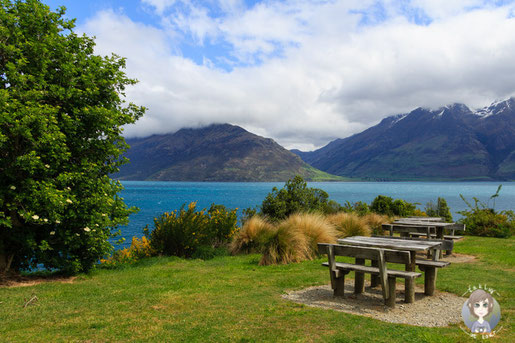 Picknickplatz am Lake Wakatipu - Foto Takly on Tour