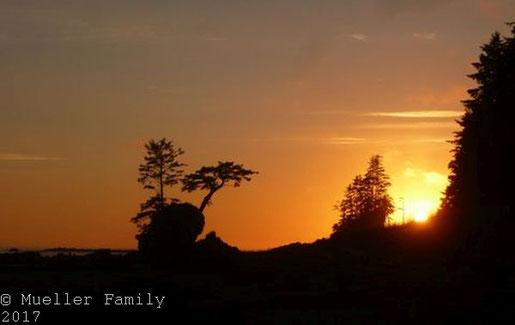 ein Sonnenuntergang wie am Bonilla Point (West Coast Trail) entschädigt für vieles