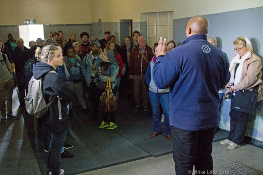 Start der Führung durch Robben Island