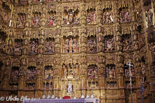 Kathedrale von Sevilla - das goldene Retablo