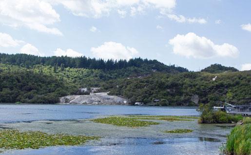 Orakei Korako - See, Thermalgebiet und Empfangsgebäude