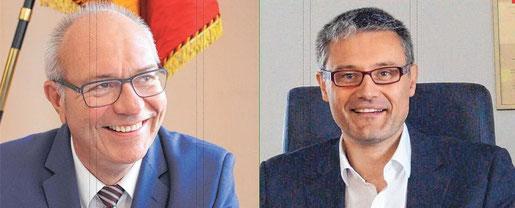 Thomas Schärer und Dr. Marcus Ehm (Bilder: Archiv Schwäbische Zeitung)